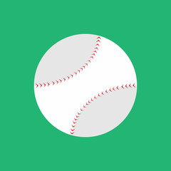 Simple Flat Style Baseball Vector Illustration Graphic