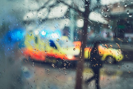 Emergency medical service in the rain