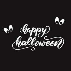 Lettering Happy Halloween. Vector illustration.