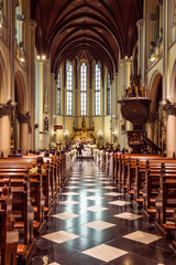 Interior St. Mary of the Assumption Cathedral, Jakarta, Java, In