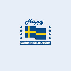 Happy Sweden Independence Day Vector Template Design