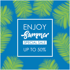 Enjoy Summer Special Sale Vector Template Design