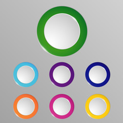Buttons for website or app. Vector button eps10