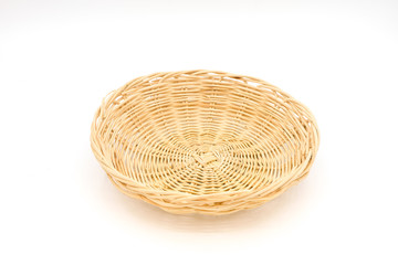 Small tray .Isolated on white background.Handicrafts of Thai people in rural areas.Can be used in many ways,put fruits or vegetables and other things.