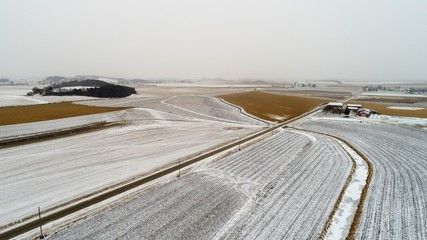 Winter Rural Scene from Altitude