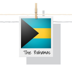 North America continent flag collection with photo of Bahamas flag , vector , illustration
