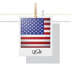 North America continent flag collection with photo of United States of America flag , vector , illustration