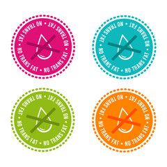 Wall Mural - Set of Allergen free Badges. No trans fat. Vector hand drawn Signs. Can be used for packaging Design.