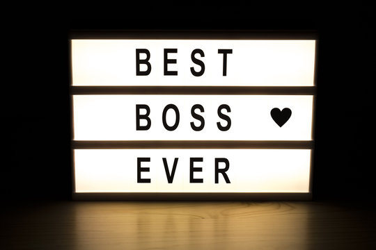 Best boss ever light box sign board
