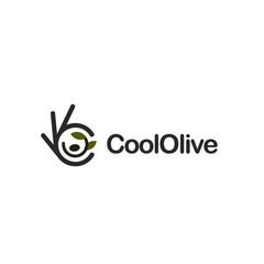 Olive branch. Ok symbol, Okay vector logo, high quality