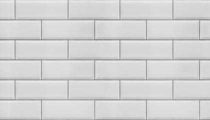 Wall of white tiles.