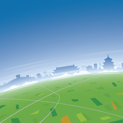 Beijing Skyline Aerial View