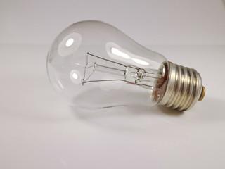 40-watt incandescent lamp on white background
