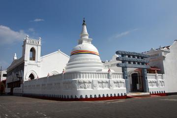 buddhist temple in galle city , sri lanka
