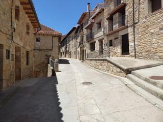 Puertomingalvo. Pueblo con encanto de Teruel en Aragón, España