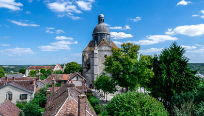 medieval city of Provins, France landscape view