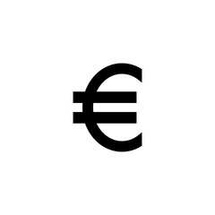 Euro currency symbol vector icon
