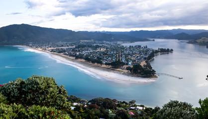 New Zealand, View at Pauanui from Paku Summit