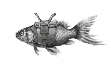 Fish with saddle