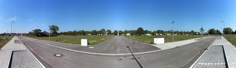 Panorama einer neu gebauten Straße