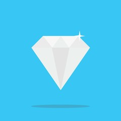 crystal diamond shining stone polygon vector icon expensive mineral