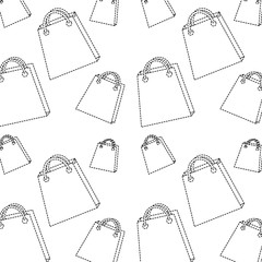 shopping bag pattern image vector illustration design  black do