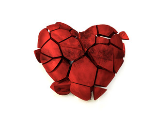 Red broken heart