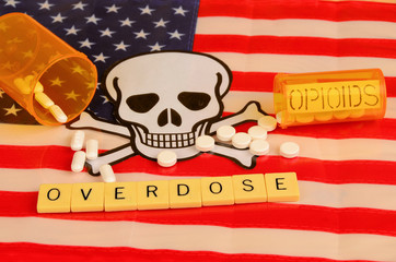 Signs and symbols of of opioid crisis in America