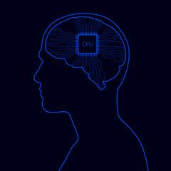 Human with digital brain