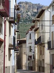 Calle en Forcall, pueblo de la Comunidad Valenciana, España. Perteneciente a la provincia de Castellón, en la comarca de Los Puertos de Morella.