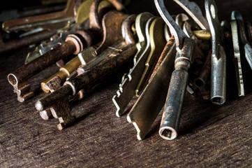 A lot of vintage keys