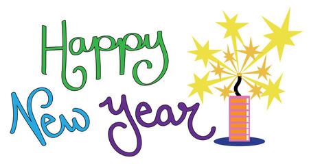 Happy New Year Firework