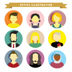 Various People Illustration Vector Illustration Graphic