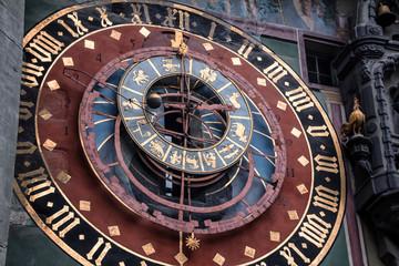 Closeup of the Astronomical Clock in Bern, Switzerland