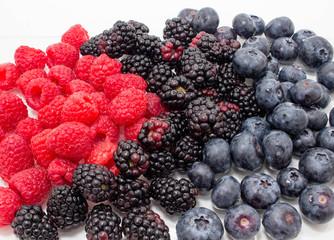 Raspberries Blueberries and Blackberries 3