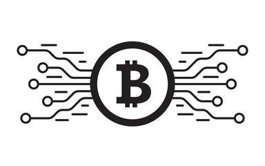 Bitcoin digital currency. Digital money concept