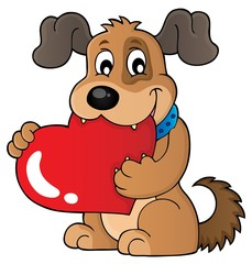Valentine dog theme image 1
