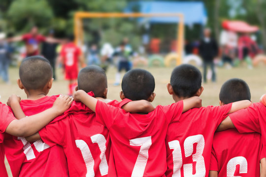 little boy soccer football team