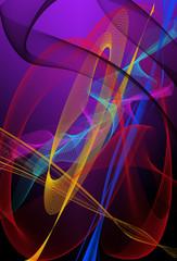 Vector de formas y líneas de colores
