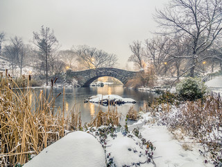 Gapstow bridge Central Park, New York City