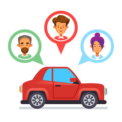 Car sharing icon