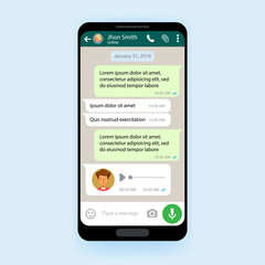 Mobile UI kit Chat app template messenger