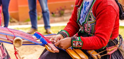 Handmade Alpaca Colourful Wool lavoration, Peru
