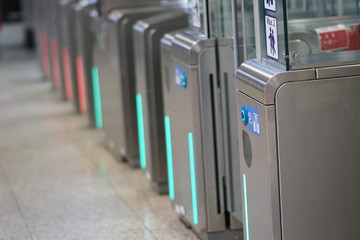 Subway station turnstile