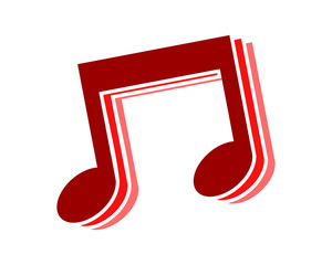 red musical notes tone tune key image vector