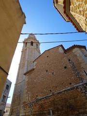Iglesia de Alcalá de Chivert / Xivert, pueblo de la provincia de Castellón, en la Comunidad Valenciana, España. Pertenece a la comarca del Bajo Maestrazgo