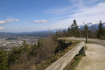 Panoramic view of Villach in Gailtal valley