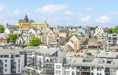Altstadt von Alesund in Norwegen