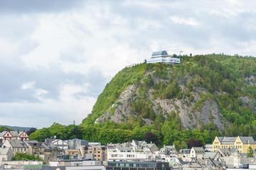 Aussichtspunkt auf dem Aksla in Alesund,  Norwegen