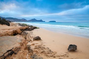 Rocks on the beach of Porto Santo island